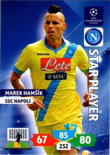 Champions League Adrenalyn XL 2013/2014 Marek Hamsik 13/14 Star Player