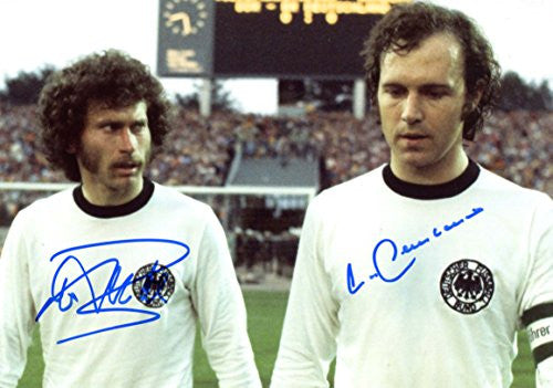 Franz Beckenbauer AUTHENTIC autograph, IP signed photo