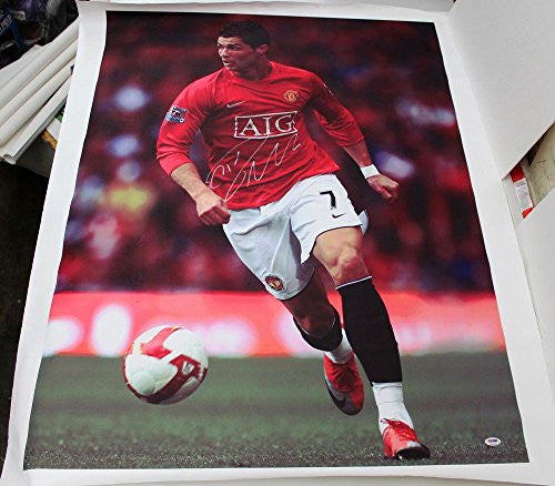 Cristiano Ronaldo Signed Autographed Huge Canvas 43x34 - PSA/DNA Certified - Autographed Soccer Art