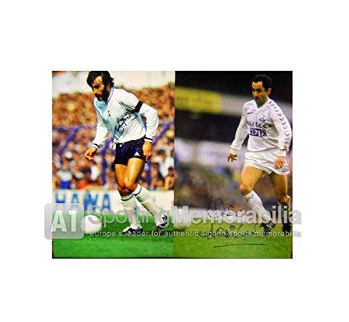 Ricky Villa and Ossie Ardiles signed Spurs print - The Tremendous Two - Autographed Soccer Photos