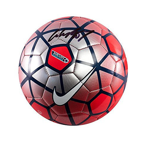 Wayne Rooney Signed Football - Nike Pitch Premier League Football Red & Silver