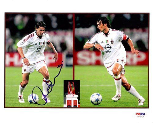 Paolo Maldini Italy Autographed PSA/DNA Authenticated 8x10 Photo Italy - Signed Photos