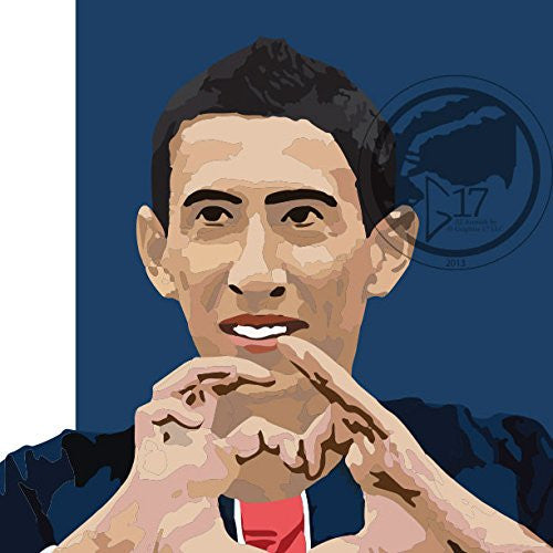 Angel Di Maria Poster - Paris Saint Germain Art