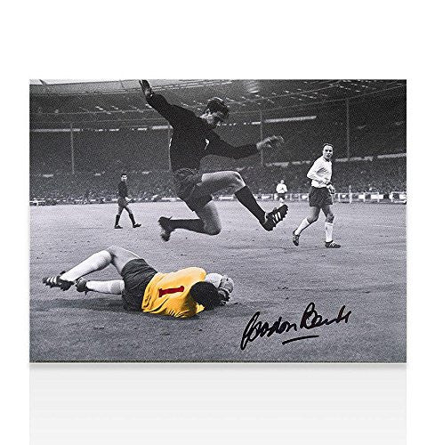 Gordon Banks Signed Photo - England Number 1 Autograph