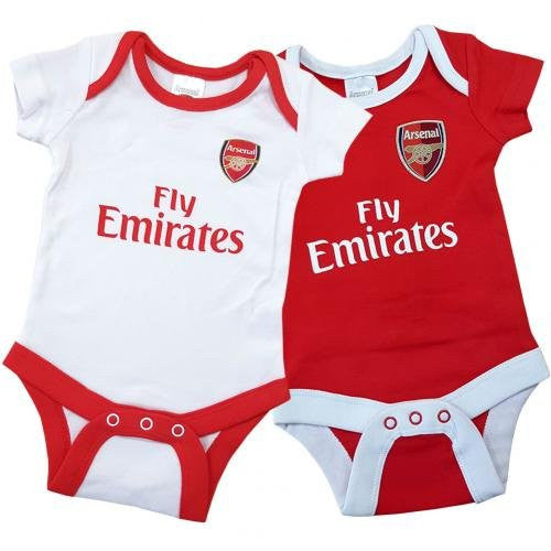 Arsenal FC 2 Pack Bodysuit (6 - 9 Months) - Official Merchandise