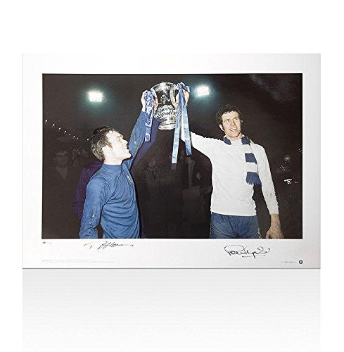 Autographed Ron Harris Photo - Peter Osgood Print FA Cup Winners - Autographed
