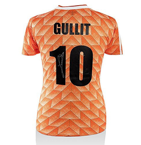 Ruud Gullit Autographed Jersey - Netherlands Shirt Number 10