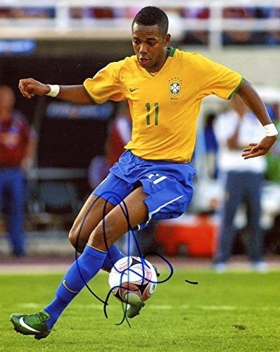 Robinho BRAZILIAN autograph, In-Person signed photo