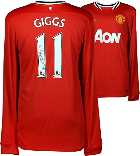 Ryan Giggs Manchester United Autographed Red 2011-12 Jersey