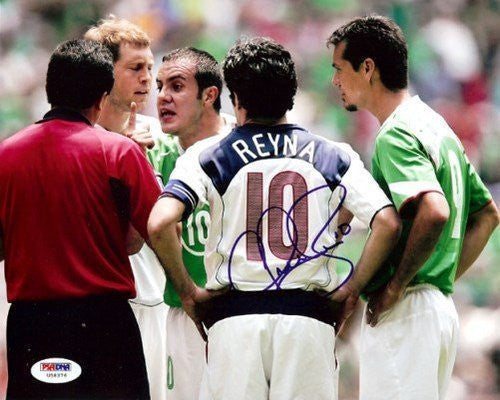 Claudio Reyna Signed 8x10 Photograph Team USA - PSA/DNA Authentication - Sports Memorabilia