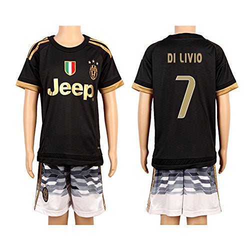 Black #7 Di Livio 2nd Away Jersey (2015/16)