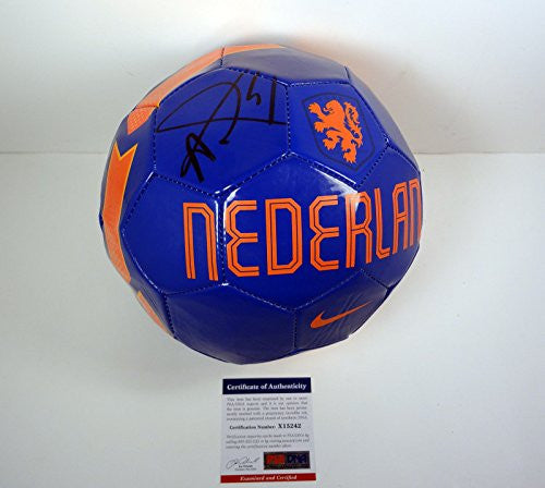 Louis Van Gaal Signed Autograph Soccer Ball PSA/DNA COA