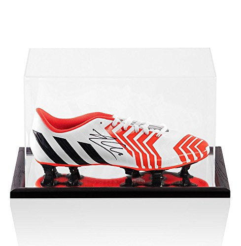 Xabi Alonso Signed White Adidas Predator Boot - In Acrylic Display Case - Autographed Soccer Cleats