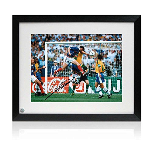 Framed Zinedine Zidane Signed France Photo: World Cup Goal