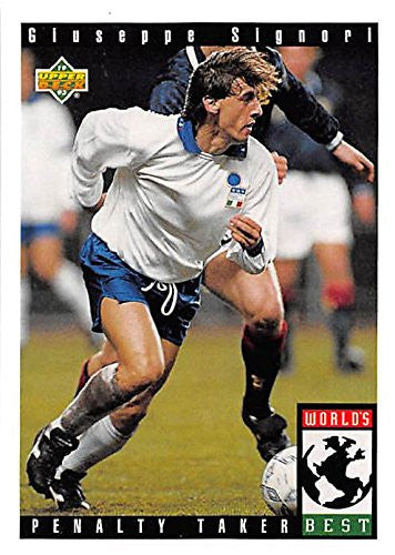 Giuseppe Signori trading card 1993 Upper Deck World Cup #111