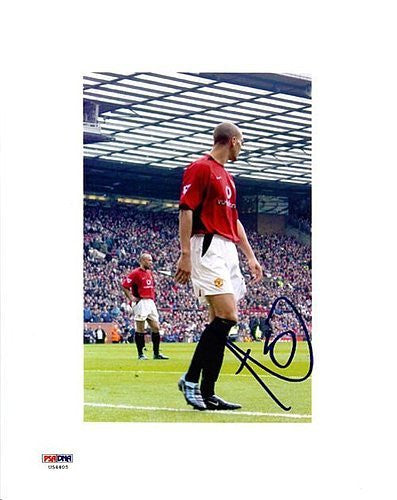 Rio Ferdinand Signed 8x10 Photograph Manchester United - PSA/DNA Authentication