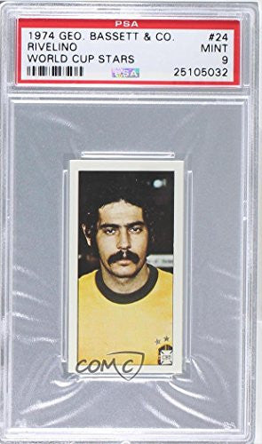 Roberto Rivelino PSA GRADED 9 (Trading Card) 1974 Bassett World Cup Stars - [Base] #24