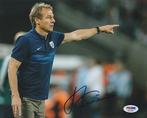 Jurgen Klinsmann Signed 8x10 Photo Germany World Cup - PSA/DNA Certified