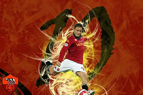 Francesco Totti Spun Silk Fabric Cloth Wall Poster Print (20x13inch 50x33cm)