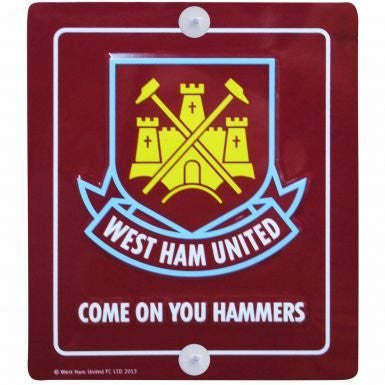 West Ham United Crest Metal Sign