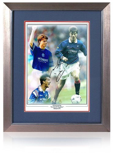 "Brian Laudrup hand signed 16x12"" Rangers F.C. montage"