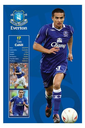 Football Posters: Everton - Tim Cahill Poster - 91.5x61cm
