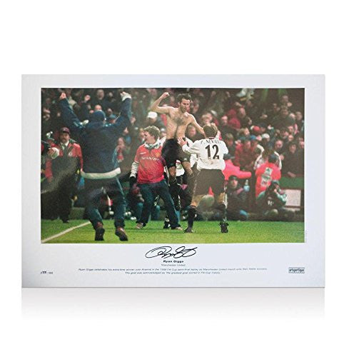 Signed Ryan Giggs Photo - 1999 FA Cup - Autographed Soccer Photos