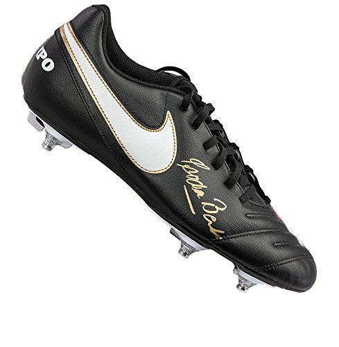 Gordon Banks Signed Football Boot - Nike Autograph Cleat - Autographed Soccer Cleats