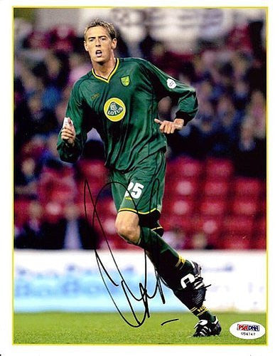 Peter Crouch Signed 8x10 Photograph England - PSA/DNA Authentication - Sports Memorabilia