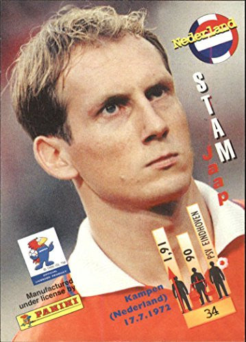 1998 Panini World Cup #34 Jaap Stam - NM-MT
