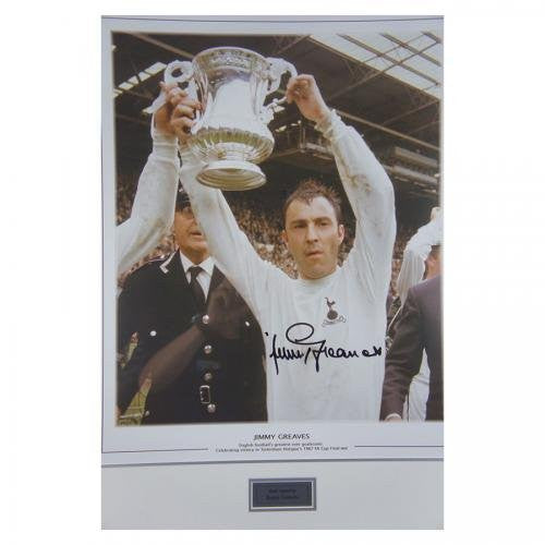 Signed Jimmy Greaves Tottenham Hotspur Framed Display - Spurs Cup Final - COA
