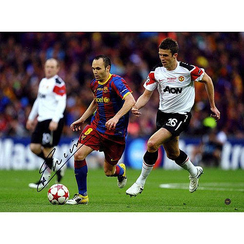 Andres Iniesta Signed Champions League Final 2011 12x16 Photograph - Certified Authentic Autograph