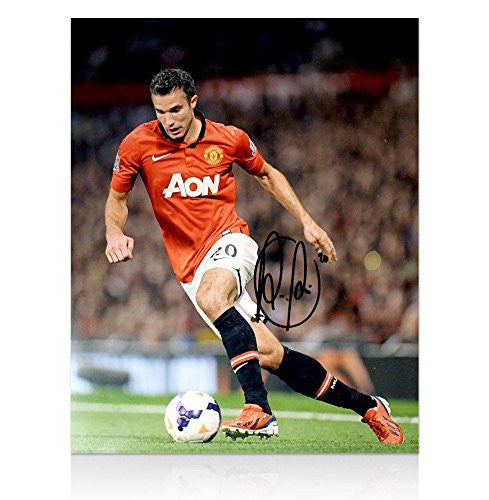 Signed Robin Van Persie Photo - Print 2013 2014 - Autographed Photos