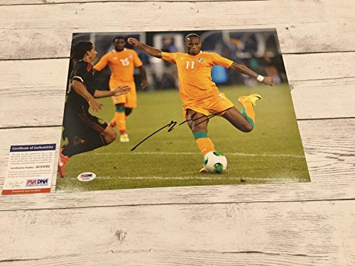 Didier Drogba Signed Ivory Coast 11x14 Photo COA