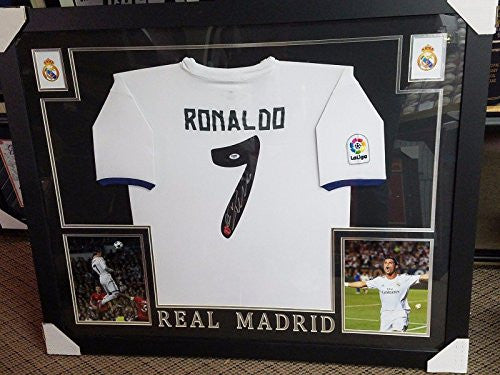 Cristiano Ronaldo Autographed Jersey - Framed - PSA/DNA Certified - Autographed Jerseys