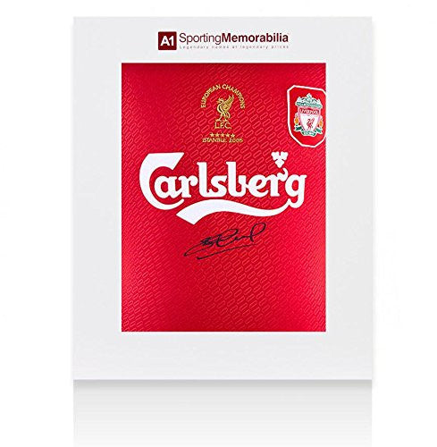 Steven Gerrard Signed Liverpool Shirt 2005 Champions League Final - Gift Box