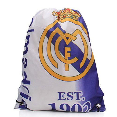 Real Madrid Soccer Drawstring Gym Bag