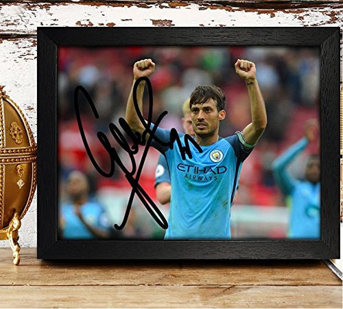 FRAMED David Silva Signed Autographed Photo 4x6 Reprint