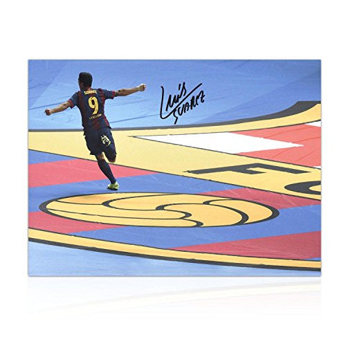 Luis Suarez Signed Photo: Champions League Final Goal