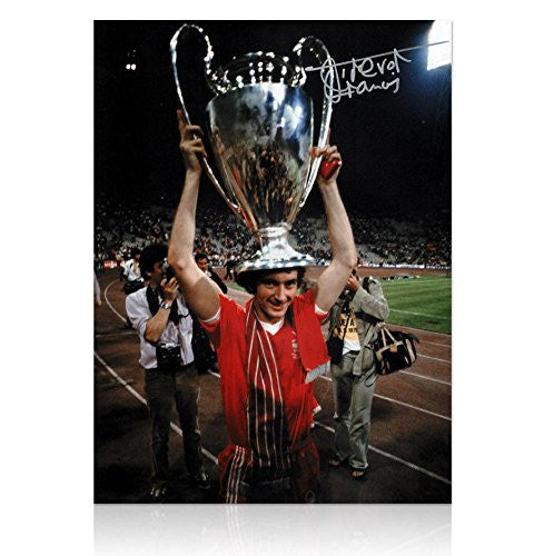 Trevor Francis signed photo - Nottingham Forest 1979 European Cup Trophy