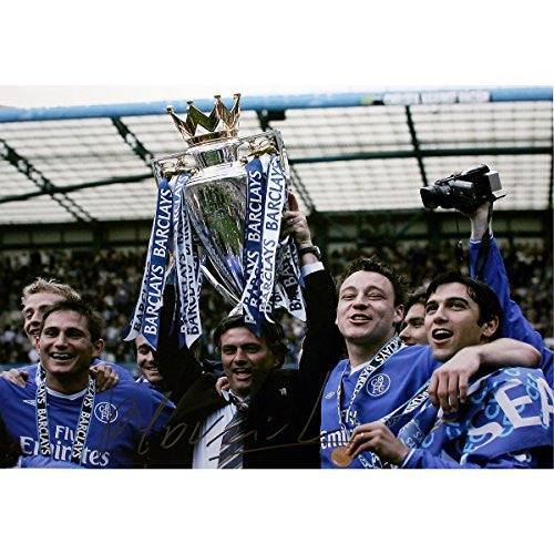 Jose Mourinho Signed Chelsea Premier League Winners 12x16 Photo (Icons Auth)