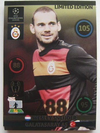 Wesley SNEIJDER Champions League 2014 Limited Edition CARD