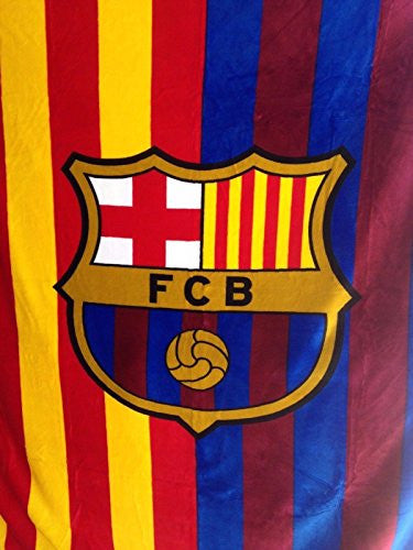 FC Barcelona Plush Throw Blanket