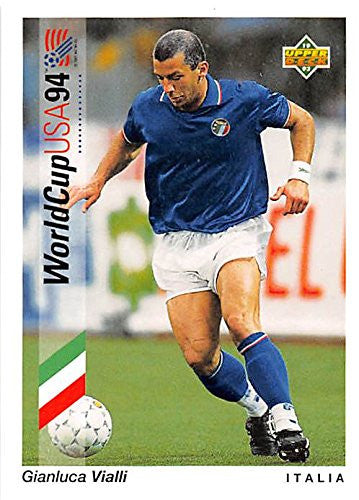 Gianluca Vialli trading card 1993 Upper Deck World Cup #85