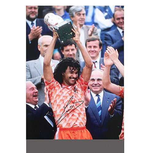 Ruud Gullit Autographed Netherlands 16x12 Photo: UEFA EURO 1988 Winner