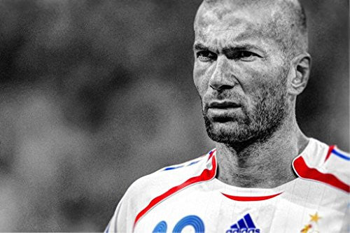 Zinedine Zidane Silk Fabric Cloth Wall Poster Print