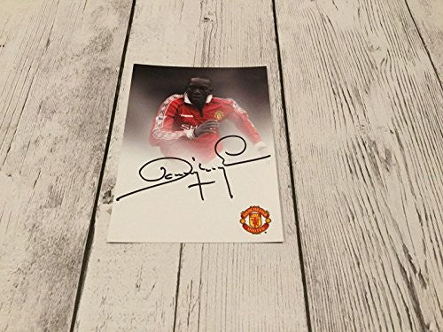Dwight Yorke Signed Manchester United Autographed