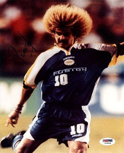 Carlos Valderrama Signed 8x10 Photograph Colombia - PSA/DNA Authentication - Sports Memorabilia