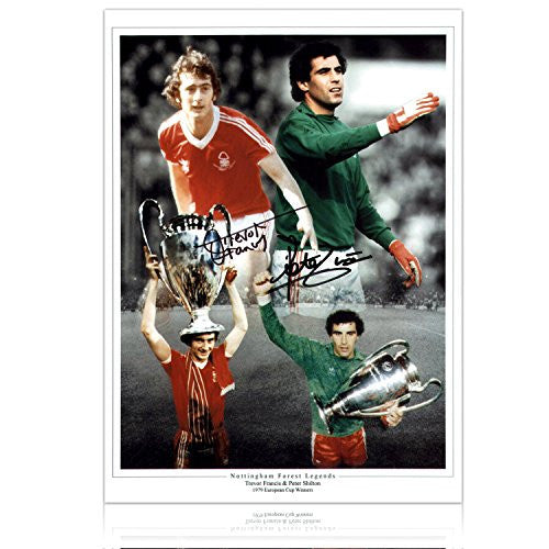 Peter Shilton & Trevor Francis Signed Nottingham Forest Photo