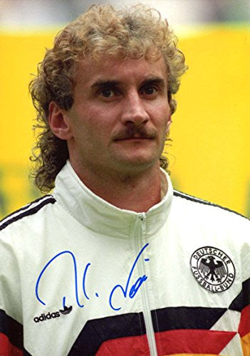 Rudi Völler GERMAN SOCCER autograph, IP signed photo